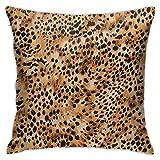 Lewiuzr Funda De Cojín Clásico,Estampado de Leopardo,Almohada Cubierta Moderna Funda De Almohada Decoración para El Hogar,45 x 45 cm