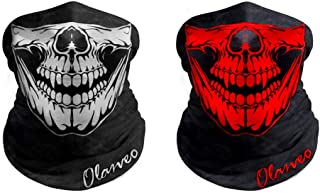 Breathable Seamless Tube Skull Face Mask half with Shade, Dust-proof Windproof Motorcycle Bicycle Bike Face Mask for Hiking Camping Climbing Fishing Hunting Motorcycling Headband Scarf Neckwarmer