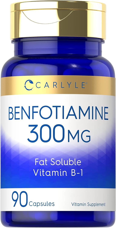 Benfotiamine 300mg 90 Capsules Vitamin Promotes B1 Translated Super intense SALE B Healthy