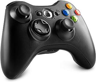 Xbox 360 Wireless Controller, 2.4GHz Wireless Gamepad Joystick for Xbox 360/360 Slim / 360 Elite Console/PC/Windows 7/8/10 System, Black