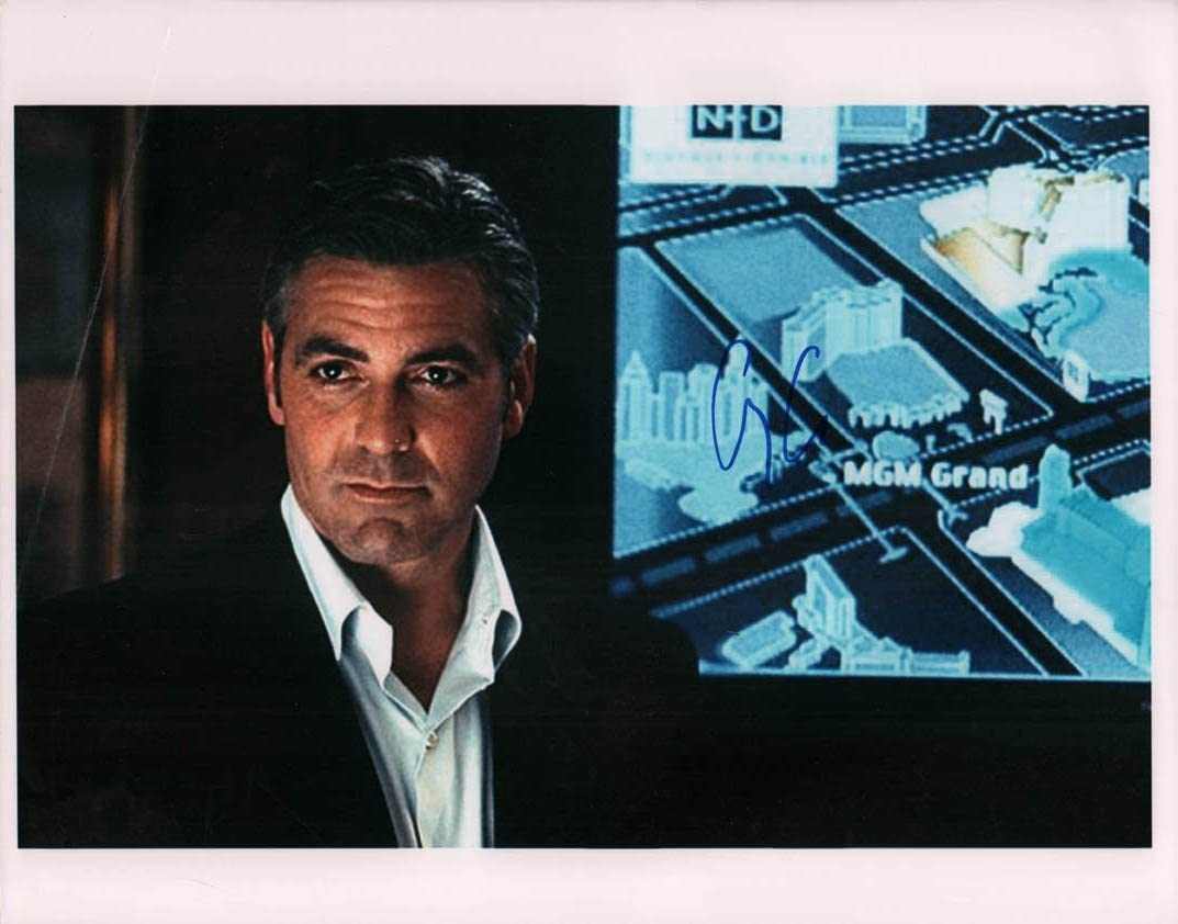 George Clooney sold Max 47% OFF out Autographed Signed Oceans Photo 11x14 AFTAL