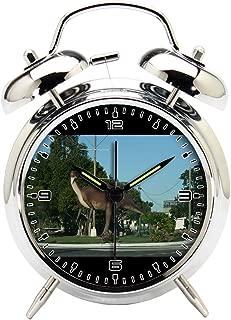 Children's Room Silver Dinosaur Silent Alarm Clock Twin Bell Mute Alarm Clock Quartz Analog Retro Bedside and Desk Clock with Nightlight-165.274_Hughenden-Dinosaur-Outback-Queensland-Australia