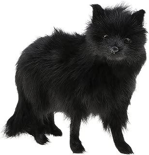 D DOLITY Realistic Plush Stuffed Fox Simulation Figure, Animal Toy Model, Home Decor Ornament - Black Color