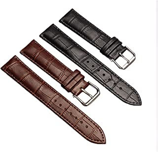 Crocodile Grain Leather Watch Band Strap,Premium Genuine Leather Replacement Watch Strap 18mm,22mm for Men and Women