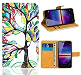 FoneExpert® Huawei Y3 II Handy Tasche, Wallet Hülle Flip Cover Hüllen Etui Ledertasche Lederhülle Premium Schutzhülle für Huawei Y3 II / Huawei Y3 2
