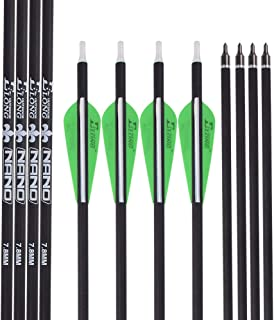 Archery 30Inch Carbon Arrow Practice Hunting Arrows with Removable Tips for Compound & Recurve Bow