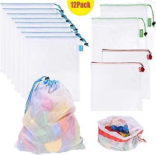 Whispex Toy Storage & Organization Mesh Bags Set of 12(8 Large 2 Medium 2 Small),Baby Toys, Game Pieces, Toy Sets, Bathtub Toys.