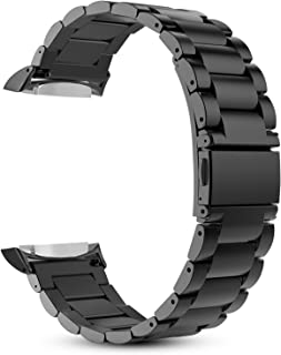 Fintie for Gear S2 Watch Band, Stainless Steel Metal Replacement Strap Wrist Bands with Link Removal Tool for Samsung Gear S2 SM-R720 / SM-R730 Smart Watches - Black