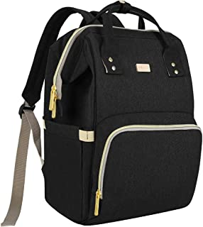 Diaper Bag Backpack Black for Baby Girls and Boys, Maydolly Multi-Function Waterproof Travel Diaper Bags with Baby Care Bottle Warmer Wide Side Pocket for Dad and Mom, Matte Black