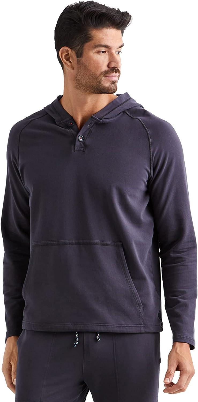 Rhone Men's Bolinas Beach Poncho, Ultra-Soft Lightweight Fabric, Hooded, Kanga Front Pocket