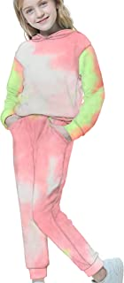 Sponsored Ad - HMBEIXYP Girl's Boy's 2pc Sweatshirts Hooded Pullover Tops and Pants