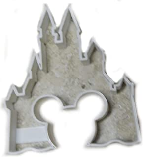 CINDERELLA CASTLE WITH MICKEY MOUSE EARS HEAD SHAPE SILHOUETTE FAIRY TALE COOKIE CUTTER BAKING TOOL 3D PRINTED MADE IN USA PR580