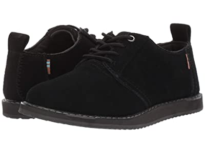 TOMS Kids Ivan (Little Kid/Big Kid) (Black Suede) Boy