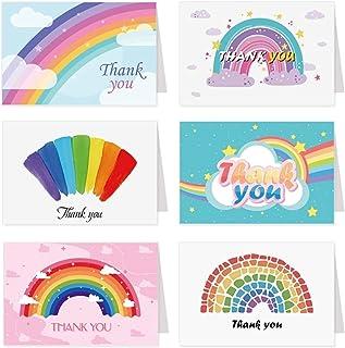 Holiday card Rainbow شكرا لك بطاقة المعايدة مع مغلفات عطلة حزب بطاقة فارغة بطاقة ل مهرجان الزفاف بطاقة بريدية 6 مجموعات Ne...