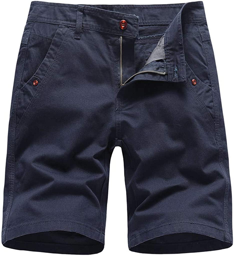 MODOQO Men's Shorts with Pockets Casual Solid Outdoor Sport Cargo Shorts Pants