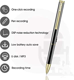 Lenovo Voice Recorder 16GB - Mini Digital Voice Recorder Pen for Lectures/Meetings/Class,HD-Audio Voice Activated Recorderwith Playback,USB, MP3