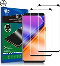 Galaxy S9 Screen Protector, RUAN [2 Pack] Tempered Glass Film,HD Clarity,Case Friendly,Anti Scratch, Curved Edge, Touch Screen Tempered Glass Screen Protector for Samsung Galaxy S9