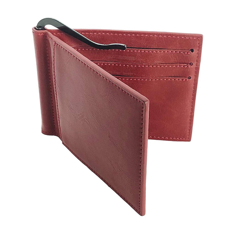 Caro マネークリップ メンズ 二つ折り 薄型 財布 [ マネークリップ付きカードケース + icカードケース入れ ]