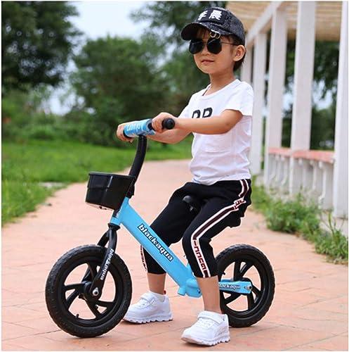 YSH 12-Zoll-Balance-fürradkinder, Aluminiumlegierungsrahmen, Gummiluftreifen Eva-Rad, 50 Kg Kapazit  Ultraleichtes Gewicht, 2-6 Jahre Alt, 80-120cm  ,E