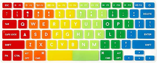 Flapjacks Stylish Designer Laptop Keyboard Cover for Apple Magic Keyboard in Rainbow
