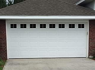 Sanfurney Magnetic Garage Door Windows Panes Faux Fake Decorative Window Decals 32 Pack for 2 car Garage Kit