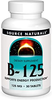 Source Naturals B-125, 125 mg B-Vitamins For Energy Production Support - 30 Tablets