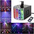 Disco Lights Derby lights TONGK DMX512 RGB LED DJ Party Lights Sound Actived Color Stage Lighting With Remote Control for Dancing Christmas Gift Thanksgiving KTV Bar Club Vocal Concert Birthday