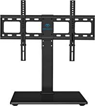 PERLESMITH Universal Swivel TV Stand / Base – Table Top TV Stand for 37-65 inch LCD..
