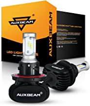 Auxbeam LED Headlight Bulbs NF-S1 Series LED Headlights with 2 Pcs of H13 Led Headlight Bulbs 50W 8000lm 6000K Halogen Replacement Hi-Lo Beam - 2 Year Warranty
