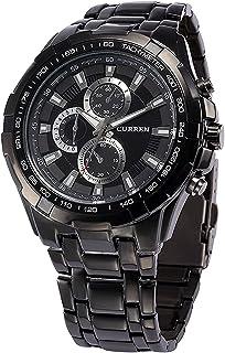 CURREN Analogue Men's Watch(Black Dial & Black Colored Strap)-CUR35