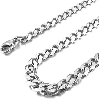 Schmuck Herren Damen Kette Laenge DQ Silber Edelstahl Halskette Breite 3mm