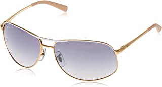 RB3387 - 077/7B Sunglasses Gold White w/ Blue/Silver...