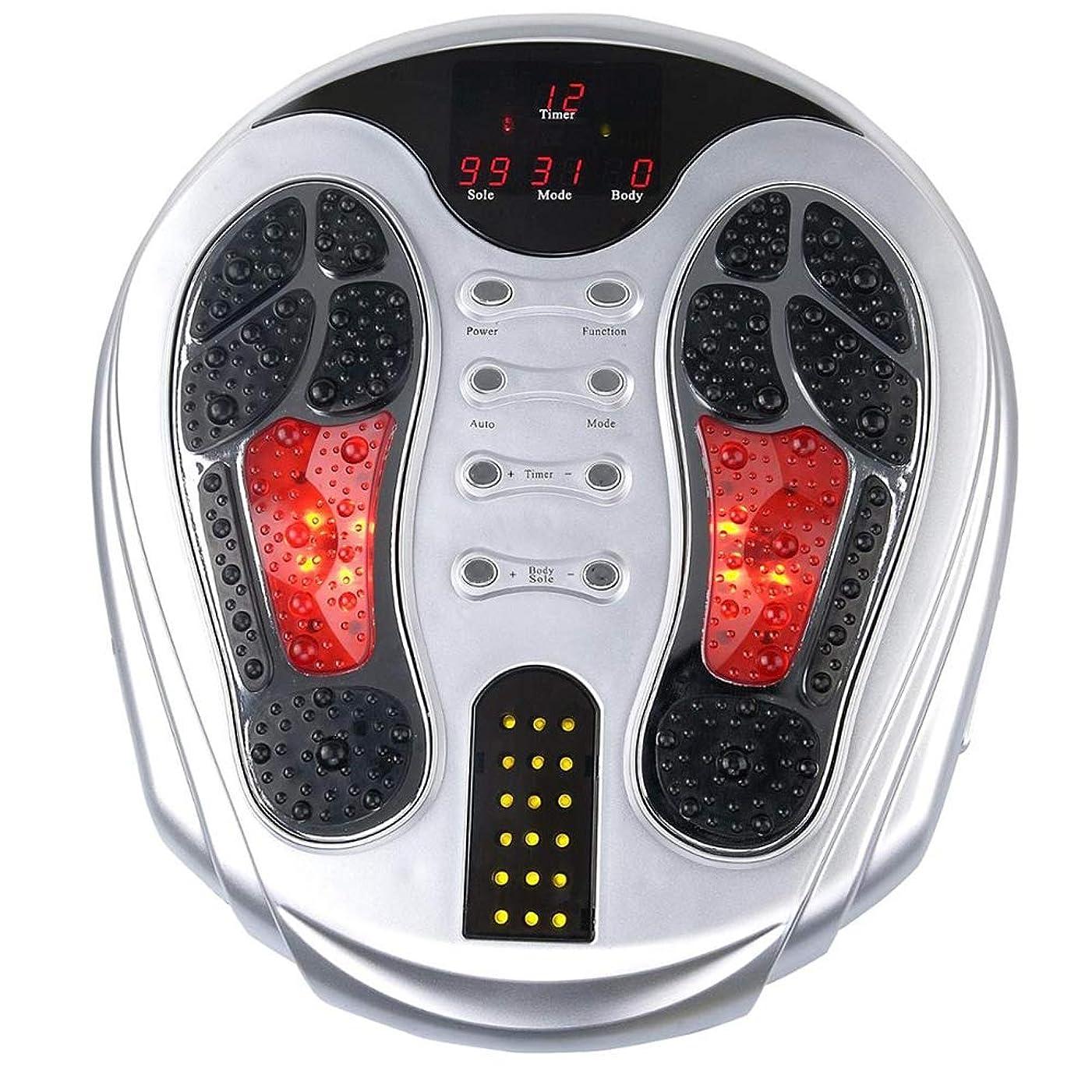 電動フットマッサージャー、EMSフット血液循環マッサージブースター、99の強さ、25のマッサージモード、足&ボディセラピーマシン