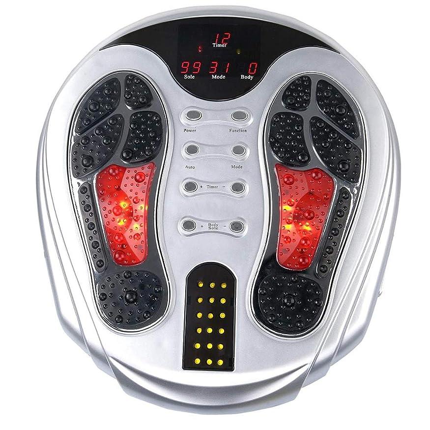 終点酸素ショートカット電動フットマッサージャー、EMSフット血液循環マッサージブースター、99の強さ、25のマッサージモード、足&ボディセラピーマシン