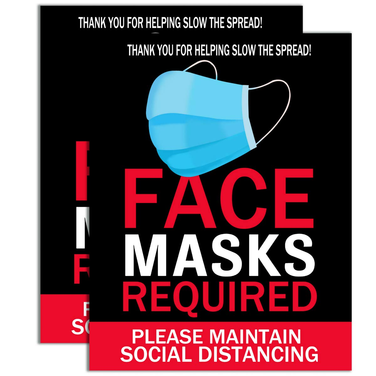 Face Mask Required Sign Max 72% OFF - 2 Pack MasksReq Free Shipping New 14