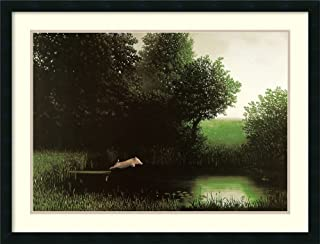 Framed Wall Art Print Diving Pig by Michael Sowa 34.25 x 26.25