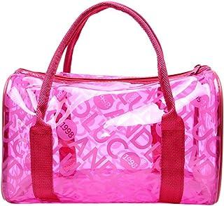 Abuyall Cute Candy Color Polka Dot Clear Bags Beach Tote Shoulder Handbags