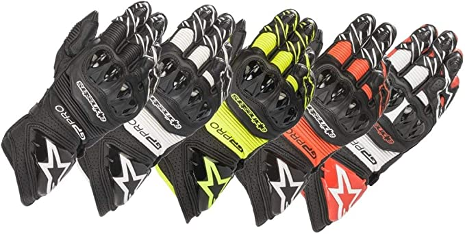 Motorcycle gloves Gp Pro R3 Gloves Black Red Fluo Alpinestars