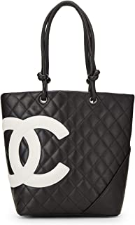 329ccda1b7b2 CHANEL Black Quilted Calfskin Cambon Ligne Tote Small (Pre-Owned)