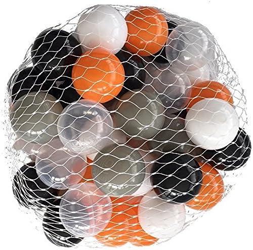 precios mas bajos Pelotas para pelotas baño baño baño Mix naranja variadas con gris, blanco, negro y transparente Talla 5000 Stück  punto de venta