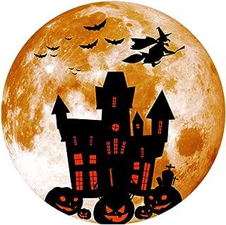 XQXCL Halloween Wall Stickers, Creative Luminous Moon-shadow Novelty Wall Sticker Halloween Decoration Sticker Witch