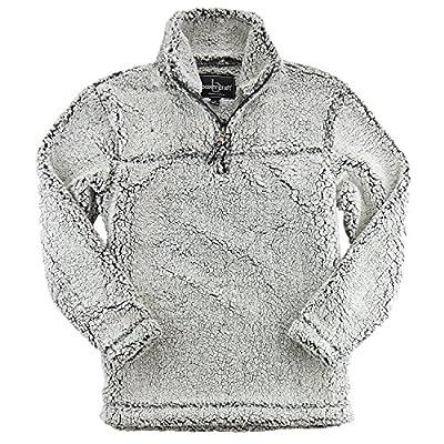 Sherpa Quarter Zip Pullover Medium Smoky Grey by Greekgear
