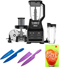 Ninja Intelli-Sense Kitchen System with Advanced Auto IQ CT680SS Includes Set of Two Knives and Cookbook Bundle (Renewed) (4 Items)