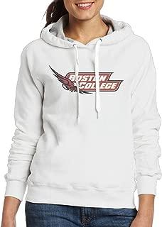 Boston College Hockey Logo Hoodie For Women White