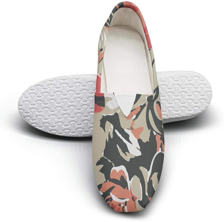 Women's Cotton Espadrille pink camo vinyl Classic shoes