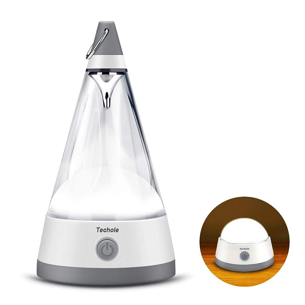 家族集まる険しいTechole テーブルライト LEDランタン ナイトライト ランプカバー取り外し可能 フック付き 磁気ベース 個性DIY プレゼント ベッドサイド/デスク/キャンプ/テント/非常照明などに最適 ソフトホワイト
