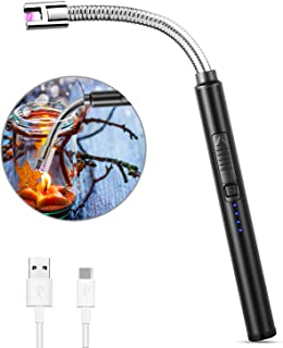 MOSUO Allume Bougie Electrique, USB Rechargeable Briquet Electrique Briquet Arc Électronique avec Flexible 360º Coupe-Vent...