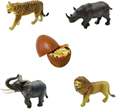Assorted 4pcs/set of 3D Jungle Animals Kits Puzzles DIY Tiger Rhino Elephant Lion Models Kids Educational Toy 3666