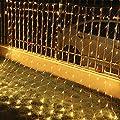 VINGO LED Lichternetz 3 * 2 Meter 8 Funktiontyp Memory Lichter Netz mit Steuerbox