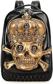 NSBDX Pirate Skull Backpacks Back to School Laptop Bag School Bag Male Leisure Travel Bag Light Outdoor Mountaineering Bag (Color : Gold)